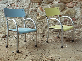 small #children chairs years 50 in the manner of #terragni