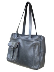 Mandarina Duck big bag pelle nera grande