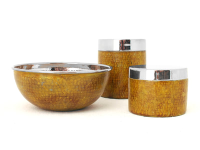 aldo  #tura design bowl #bowl boxes hammered #enameled (3)