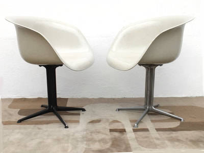 herman miller la fonda del sol restaurant chair charles eames alexander girard design years 60 two armchairs(1)