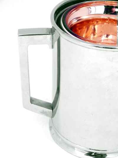 macabo italy production  ice bucket by aldo tura design years 50