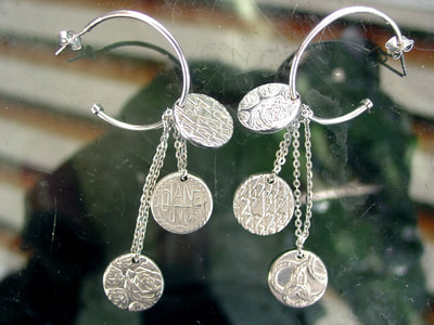 pianegonda earrings silver signed designorecchini anelli