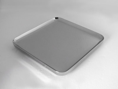 sambonet t-light square design tray years 2000