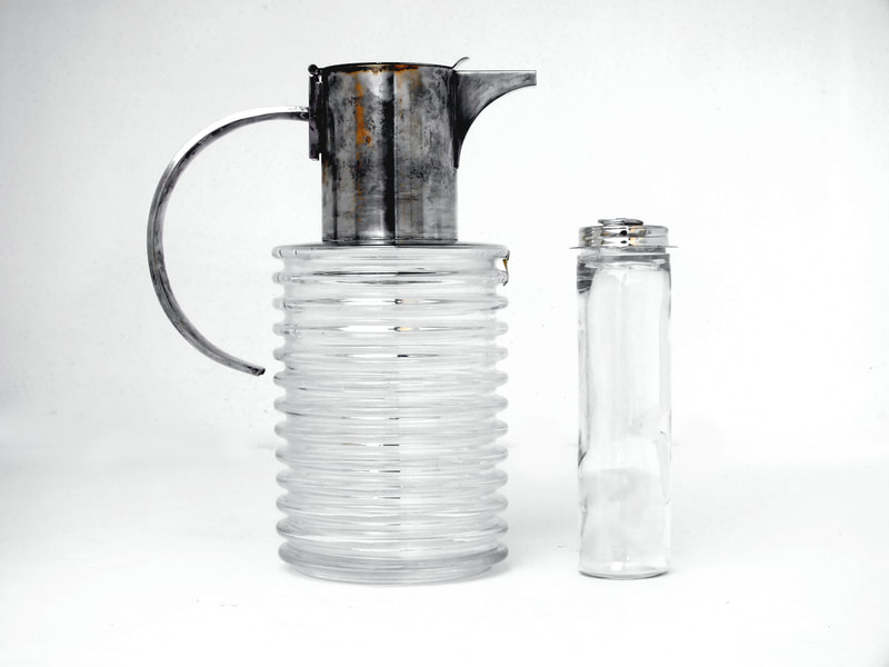 Sergio Asti design years '70 for Arnolfo di Cambio lemonade wine ice cooler silverplate