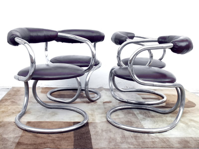 #Tecnosalotto Italy production design years '70 four #chair spaceage(arteluce era)