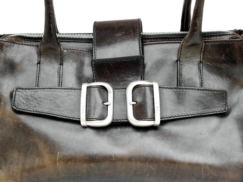 the bridge big bag cuir leather years '90 perfect and rare
