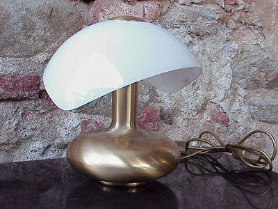 #Veart Venice Italy design #tablelamp in brass and glass years '70 perfect